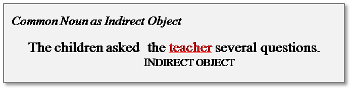 common noun indirect object