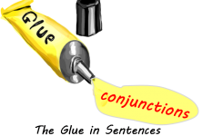 what is a conjunction glue in sentences