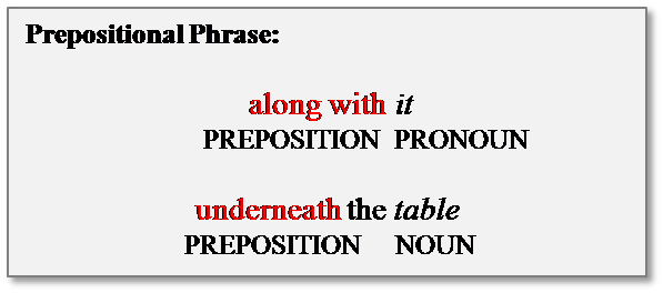 what is a preposition prepositional phrase