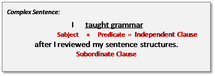 what is a sentence complex - Schools Question TimeSchools Question Time